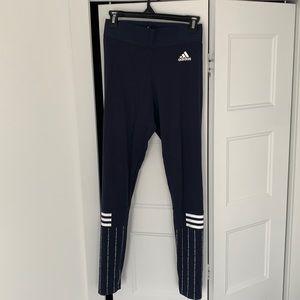 Blue adidas legging